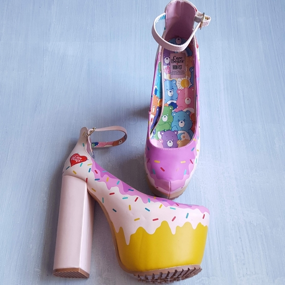 Iron Fist Shoes - Iron Fist Care Bear cupcake platforms size 8